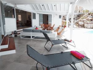 Villa inattendue Marie-Galante terrasse couverte