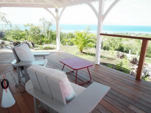Villa inattendue Marie-Galante vue terrasse mer